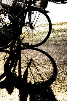 Free Silhouette Of A Bike S Wheel Stock Image - 30240251