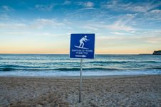 Free Sunset Beach With Surf Sign. Royalty Free Stock Image - 30241886