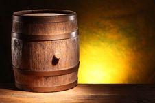 Free Wooden Barrel. Stock Photos - 30241923