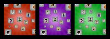Free Backgrounds With Cubes And User Icons Stock Photography - 30242142