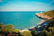 Free Rock Coast In Chonburi Thailand Royalty Free Stock Photography - 30243087