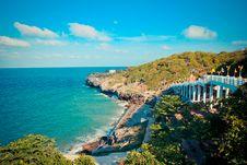 Free Rock Coast In Chonburi Thailand Stock Photography - 30243132