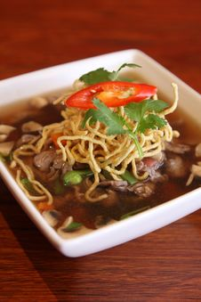 Beef Stew Noodle Soup Stock Photos