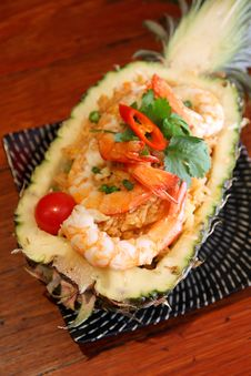 Pineapple Fried Rice With Prawn Royalty Free Stock Image
