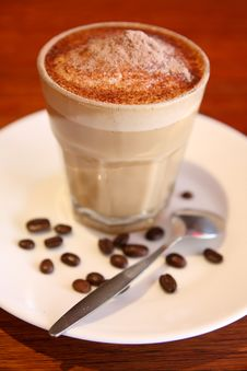 Free Coffee With Coffee Beans. Stock Image - 30243681
