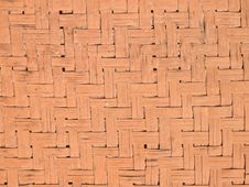 Texture Of Bamboo Weaved Wall Royalty Free Stock Images