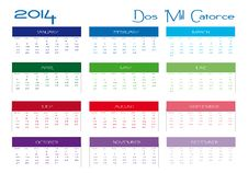Free Calendar 2014 Royalty Free Stock Images - 30246229