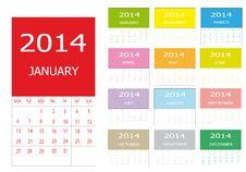 Free Calendar 2014 Royalty Free Stock Photo - 30246235