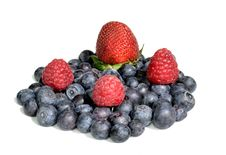Strawberry Raspberries And Blueberries Royalty Free Stock Images