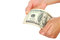 Free Dollar Bank Note Money In The Hand Stock Photo - 30247310