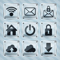 Free Glass Web Icons Royalty Free Stock Photos - 30250908