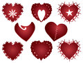 Free Red Hearts Icons Stock Images - 30259334