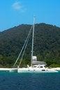 Free Sail Yacht On Blue Sea Royalty Free Stock Image - 30259666