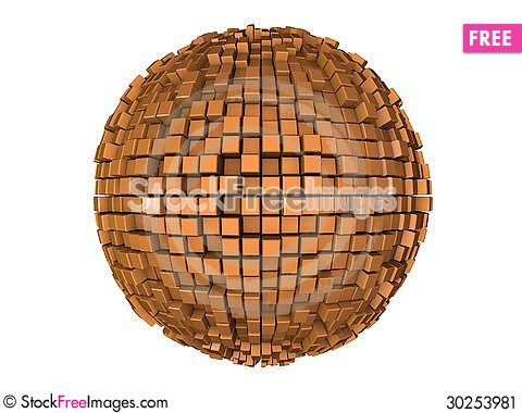 Free Sphere From N-gons Stock Image - 30253981