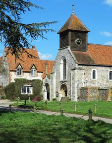Free An English Village Church And Manor Stock Image - 30251341