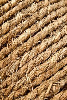 Straw Rope Background Stock Photo