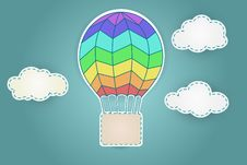 Free Colorful Aerostat With Clouds Royalty Free Stock Photography - 30253167