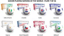 Free Soccer Playing Nations Of The World Royalty Free Stock Image - 30254006