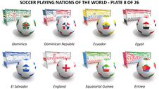 Free Soccer Playing Nations Of The World Stock Image - 30254021