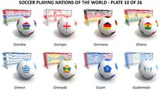 Free Soccer Playing Nations Of The World Stock Images - 30254154