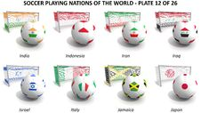 Free Soccer Playing Nations Of The World Stock Photo - 30254310