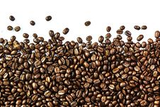 Free Coffee Beans And Coffee Cup Stock Photos - 30254983