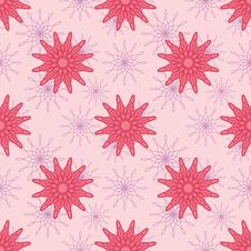 Free Pink Flowers Seamless Pattern Royalty Free Stock Photos - 30257768