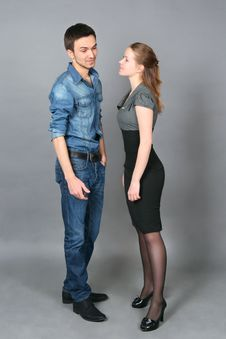 Free Portrait Of  Young Couple Stock Image - 30259951