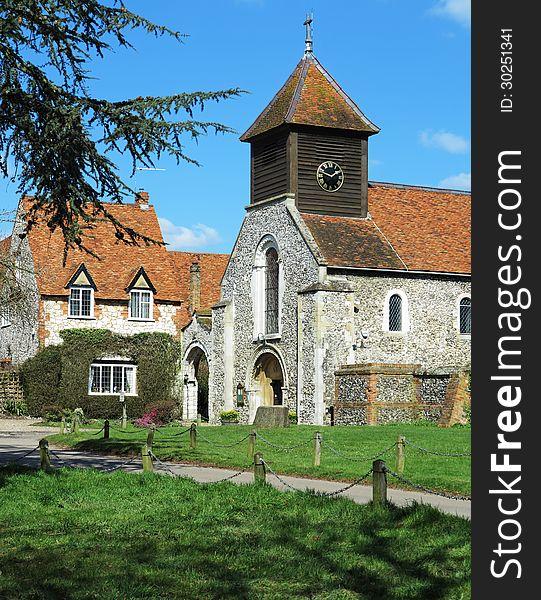 An English Village Church and Manor