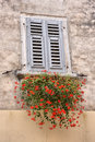 Free Old Window With Flowers Stock Photography - 30261322