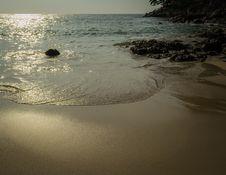 Leam Sing Beach In The Evening, Phuket, Thailand Royalty Free Stock Photos