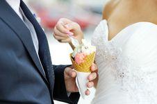 Free Bride With An Ice-cream Stock Photos - 30263493