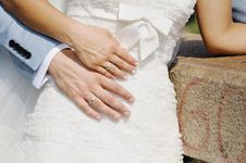 Free Wedding Rings On Bride And Groom Hands Royalty Free Stock Image - 30263516