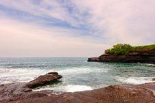 The Beach Stone Royalty Free Stock Photos