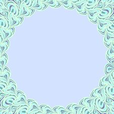 Light Blue Round Frame Royalty Free Stock Photography