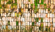 Free Old Brick Wall With Moss Royalty Free Stock Image - 30267536