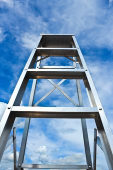 Free Stainless Steel Ladder To The Sky Stock Photos - 30267573