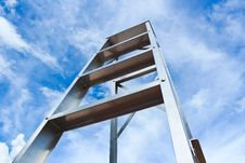 Free Stainless Steel Ladder And Blue Sky Stock Image - 30267621
