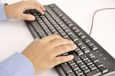 Free Hands Typing On Keyboard Stock Photo - 30269510