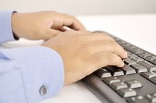 Free Hands Typing On Keyboard Royalty Free Stock Photos - 30269528
