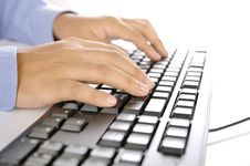 Free Hands Typing On Keyboard Stock Photo - 30269550