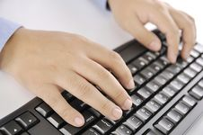 Free Hands Typing On Keyboard Royalty Free Stock Images - 30269579