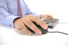 Free Hands Typing On Keyboard Stock Photography - 30269582