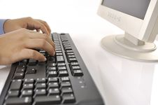 Free Hands Typing On Keyboard Stock Photo - 30269650