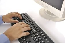 Free Hands Typing On Keyboard Royalty Free Stock Images - 30269659