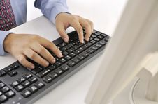Free Hands Typing On Keyboard Royalty Free Stock Images - 30269669