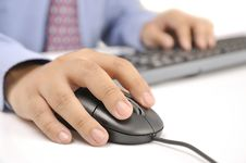 Free Hands Typing On Keyboard Royalty Free Stock Images - 30269699