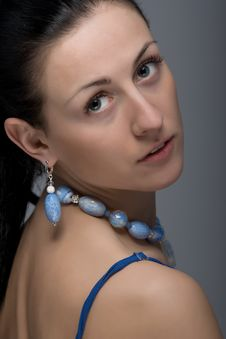 Free Close Up Portrait Of Gorgeous Woman Wearing Jewelry Royalty Free Stock Photography - 30271077