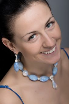 Free Portrait Of Sincere Smile Woman With Jewelry Stock Image - 30271091