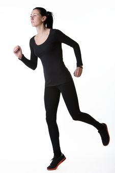 Sport Fitness Woman Exercising Stock Image